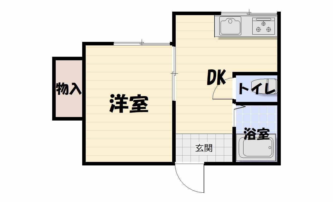 間取り105号室